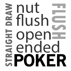 Flopping a Draw -  The two main drawing hands you will be facing are the Open Ended Straight draw, and the Flush draw.