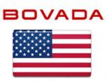 Bovada logo with USA flag