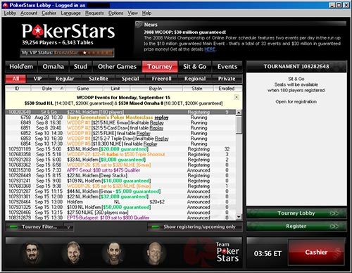 Pokerstars has an unrivalled level of traffic which means there are thousands of tables or tournaments to choose from at any one time