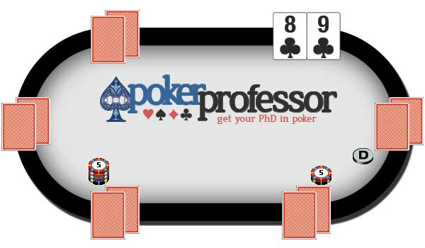 The Next Hand - the dealer button moves to the left and the next players place the blinds for the start of the next hand